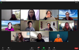 Virtual meeting with team that works with Linda Tong