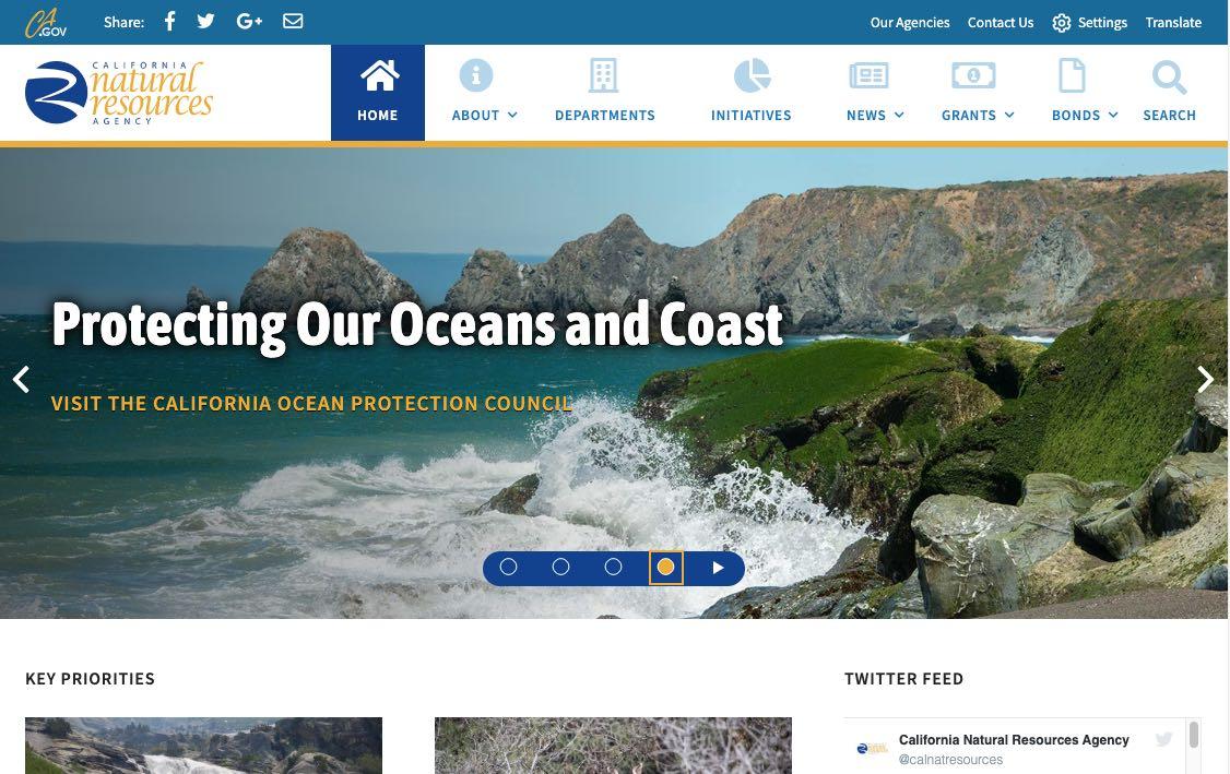 Image of new website